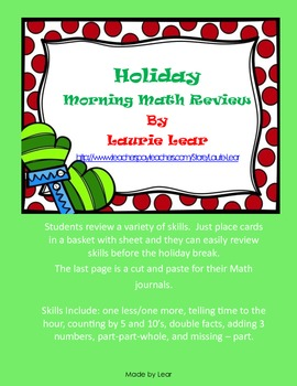 Holiday Math Review