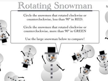 Holiday Math: Rotating Snowman!