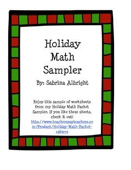 Holiday Math Sampler
