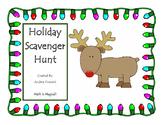 Holiday Math Scavenger Hunt