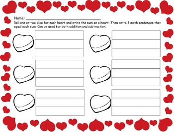 Holiday Math Sentences Plus Counting