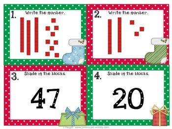 MATH- Holiday Math Shuffle: Place Value, Fact Families, Even/Odd, Skip Counting