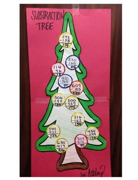 Holiday Math: Subtraction Tree