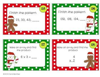 Holiday Math Task Cards