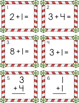 Holiday Math Task Cards