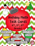 Christmas Math Task Cards - 4th, 5th, 6th Grades