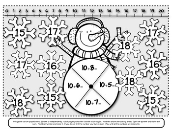 Christmas Holiday Math Time/4 Addition and Subtraction Cooperative Games