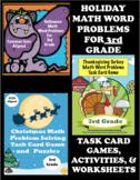 Holiday Math Bundle for 3rd Grade: Halloween, Thanksgiving, Christmas