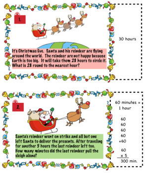 Holiday Math Bundle for 3rd Grade: Halloween, Thanksgiving, Christmas