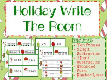 Holiday Math Write The Room