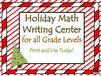 Holiday Math Writing Center