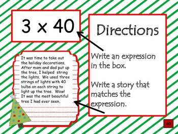 Holiday Math Writing Center