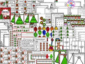 Holidays Math and Literacy Centers for Preschool, Pre-K, & Kindergarten