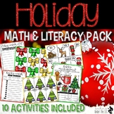 Holiday Math and Literacy Pack