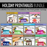 Holiday Math and Literacy Mega Bundle for the ENTIRE YEAR