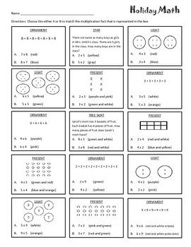 Holiday Math:Multiplication