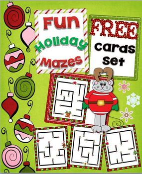 Holiday Mazes Card Set ~ Free