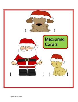 Measuring Cards with Recording Sheet December Theme