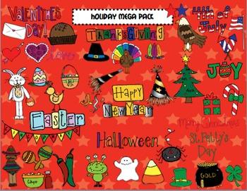 Holiday Mega Clipart Pack COMBO