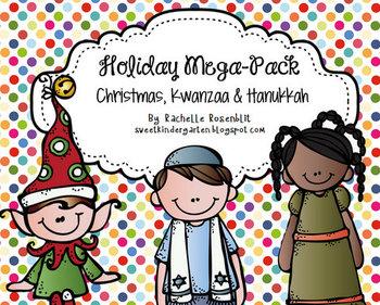 Holiday Mega-Pack {Christmas, Hanukkah, Kwanzaa}
