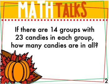 Math Talks -  Christmas Included