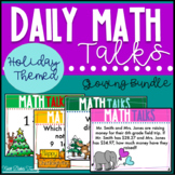 6th Grade Math Talks Holiday Themed -  Valentine's Day  Included