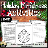 Holiday Mindfulness Counseling Activities
