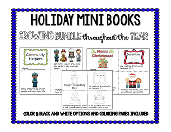 Holiday Mini Books Growing Bundle throughout the YEAR