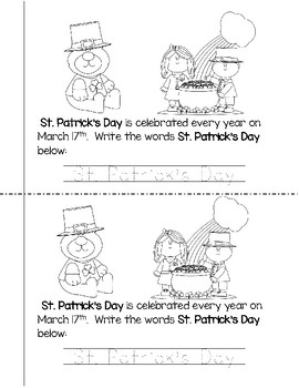 Holiday Mini-Books Packet