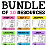 Mini Books and Activities - Spring Bundle