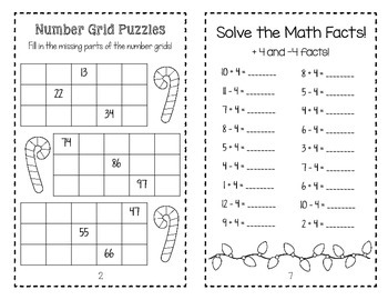 Holiday Mini Math Books! (No Prep)