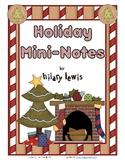 Holiday Mini-Notecards - Freebie
