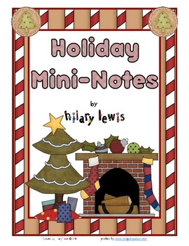 Holiday Mini-Notecards - Freebie