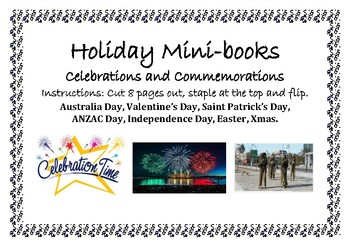 Holiday and Special Events - Mini-books