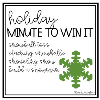 Holiday Minute to Win It!