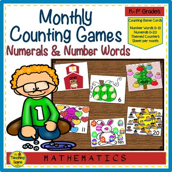 Number Counting Monthly & Holiday Math Games