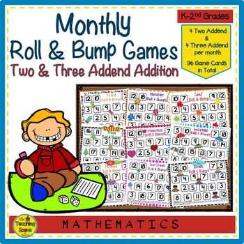 Roll & Bump Monthly & Holiday Math Games