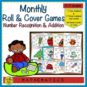 Roll & Cover Monthly & Holiday Math Center Games