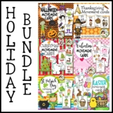Holiday Movement Cards BUNDLE-Halloween, Thanksgiving, Christmas, Valentine's..