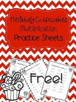 Holiday Multiplication 3 practice pages