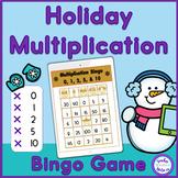 Holiday Multiplication Bingo Game - Digital and Printable