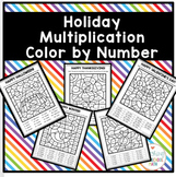 Holiday Multiplication Color By Number Bundle