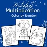 Holiday Multiplication Color by Number: Elf Reindeer Chris