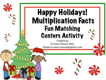 Multiplication Facts Problem Solving Activities