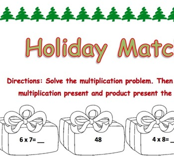Holiday Multiplication Match