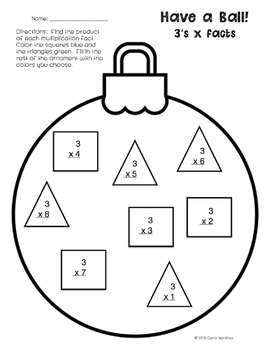 Holiday Multiplication Review {Freebie}