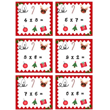 Holiday Multiplication Task Cards