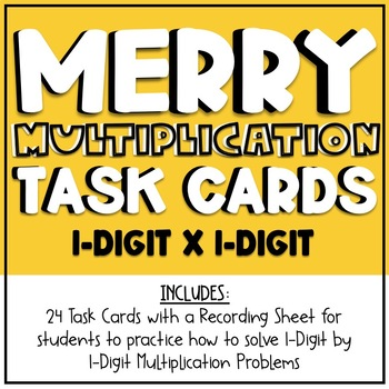 1-digit by 1-digit Multiplication Task Cards