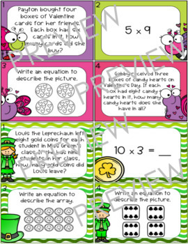 Holiday Multiplication Task Cards COMPLETE BUNDLE