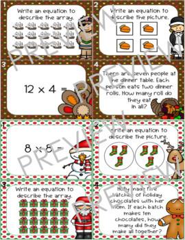 Holiday Multiplication Task Cards THE BUNDLE